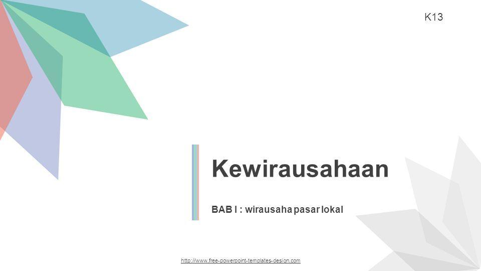 Kewirausahaan Bab I Wirausaha Pasar Lokal K Ppt Download
