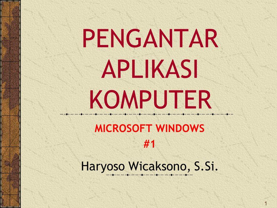 Pengantar Aplikasi Komputer Ppt Download