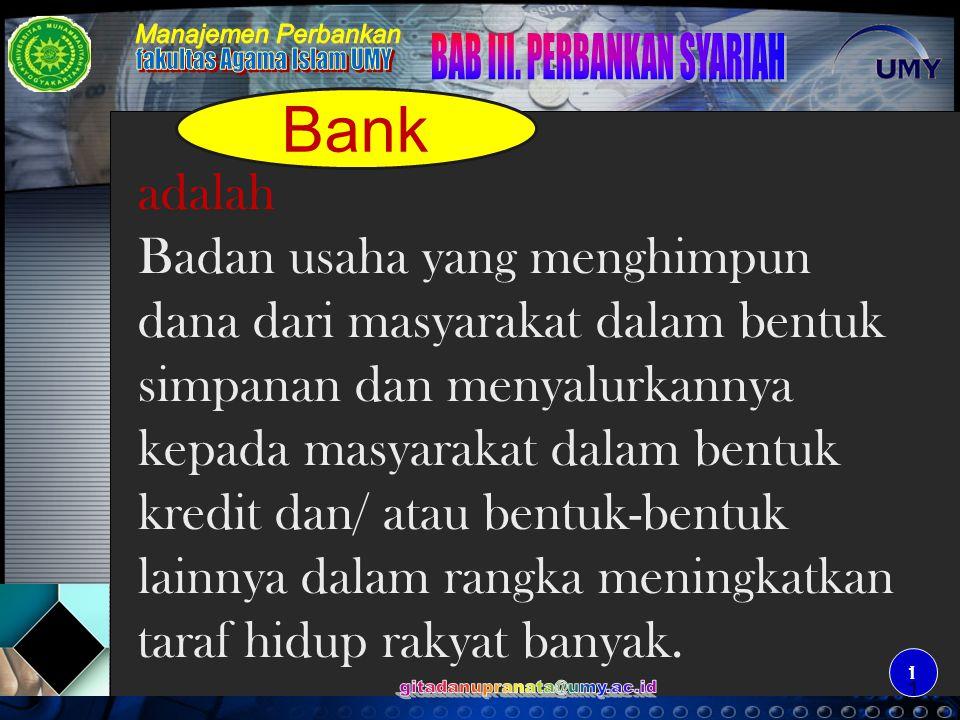 Bank Adalah Badan Usaha Yang Menghimpun Dana Dari Masyarakat Dalam Bentuk Simpanan Dan Menyalurkannya Kepada Masyarakat Dalam Bentuk Kredit Dan Atau Ppt Download