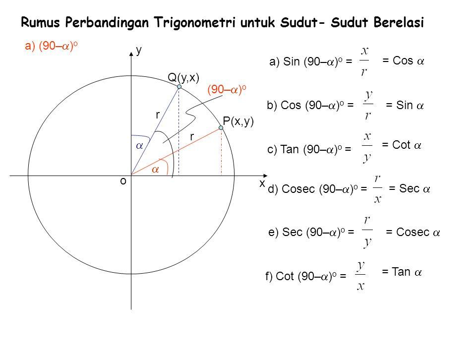Rumus Perbandingan Trigonometri Untuk Sudut Sudut Berelasi Ppt Download