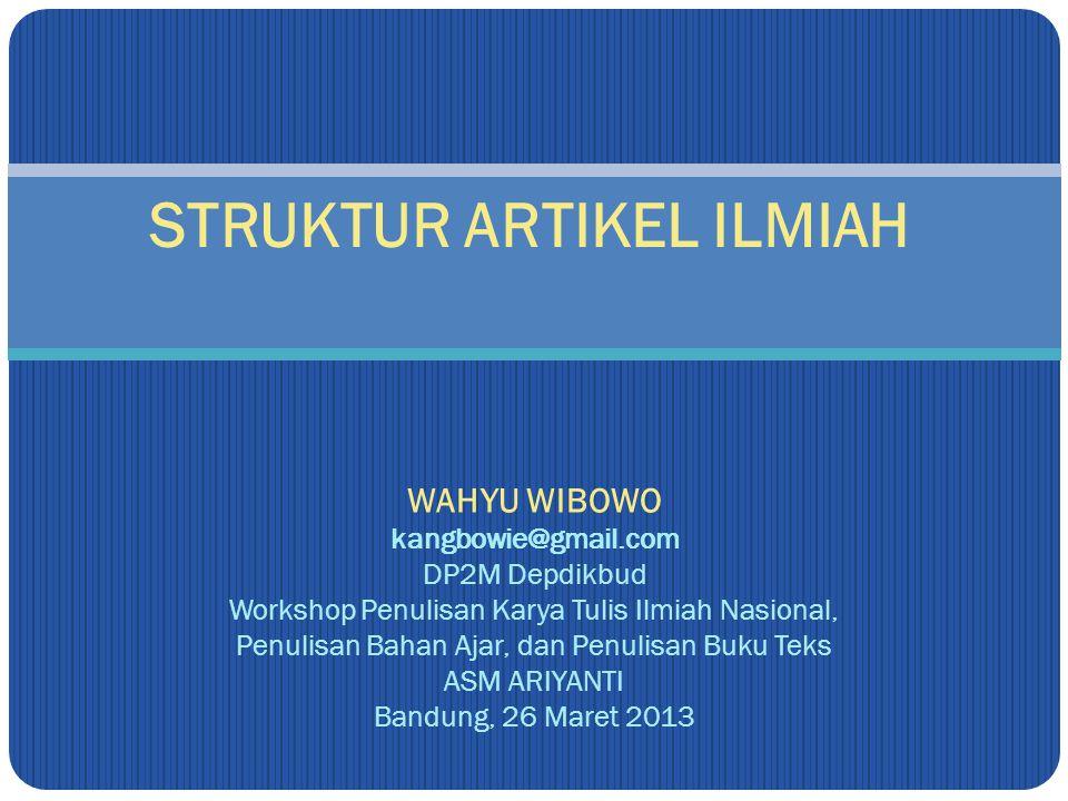 Struktur Artikel Ilmiah Ppt Download