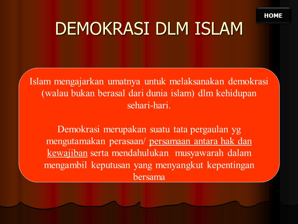 Home Demokrasi Dlm Islam Ppt Download