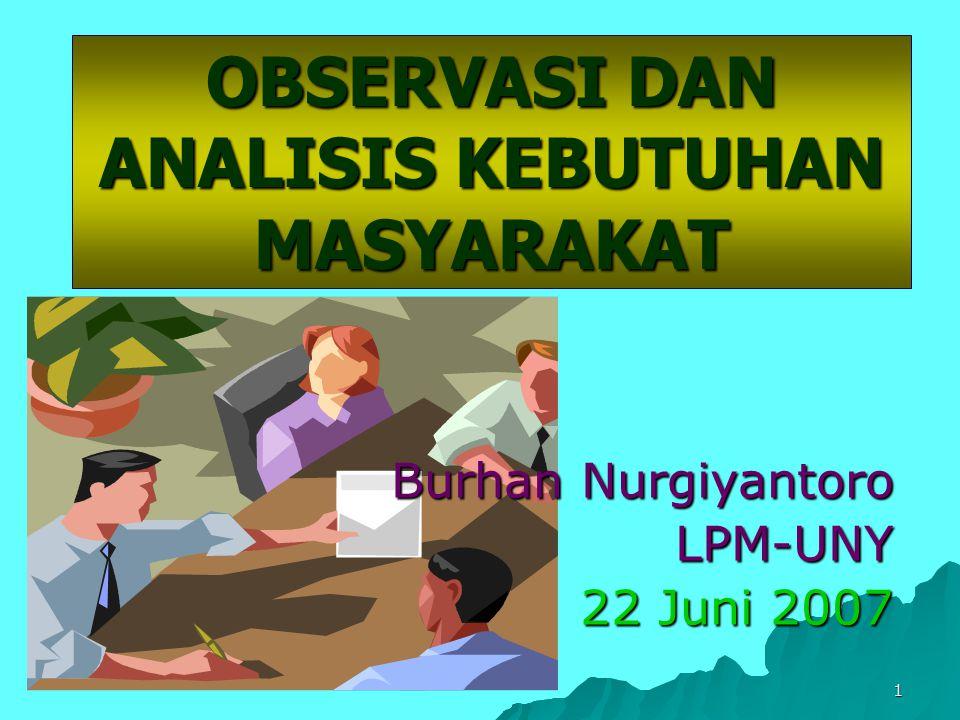 OBSERVASI DAN ANALISIS KEBUTUHAN MASYARAKAT - ppt download