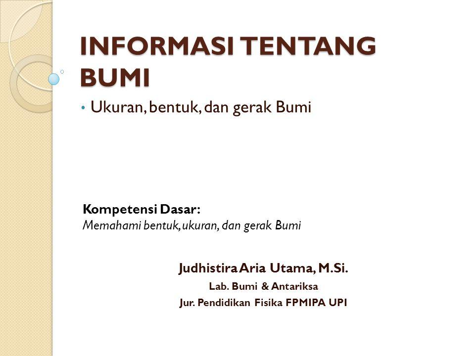 Informasi Tentang Bumi Ppt Download