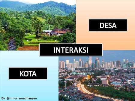 4 Pola Keruangan Desa Dan Kota Materi Struktur Ruang Desa Dan Kota