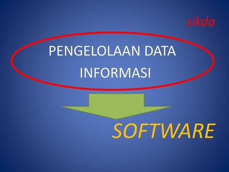 Sikda PENGELOLAAN DATA INFORMASI SOFTWARE.