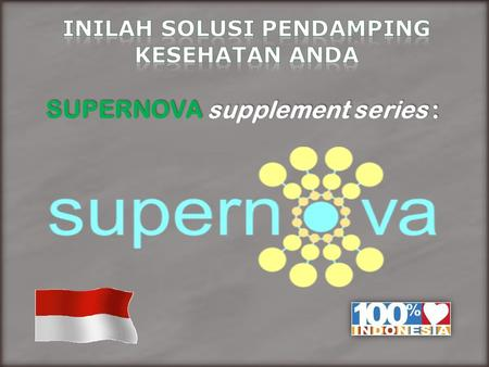 SUPERNOVA supplement series :.