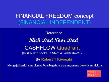 FINANCIAL FREEDOM concept (FINANCIAL INDEPENDENT)