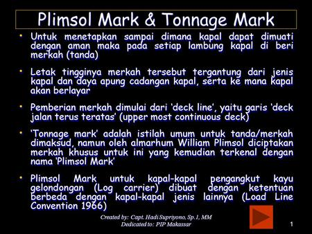 Plimsol Mark & Tonnage Mark