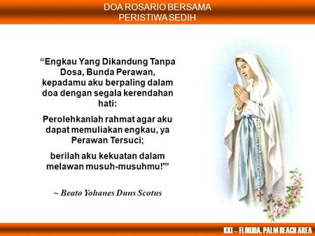 ~ Beato Yohanes Duns Scotus