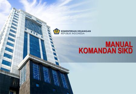 MANUAL KOMANDAN SIKD.