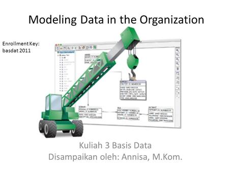 Modeling Data in the Organization