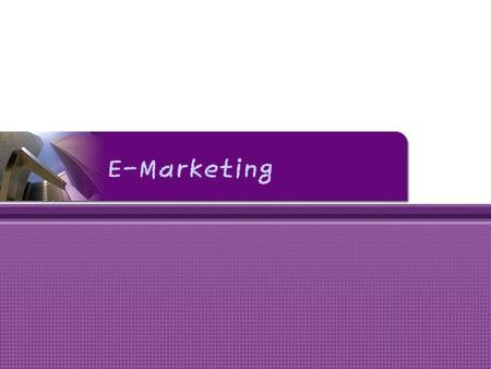 E-Marketing.