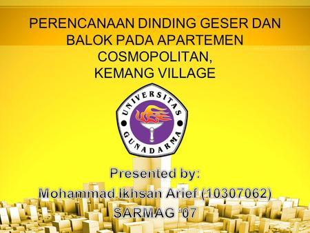Presented by: Mohammad Ikhsan Arief ( ) SARMAG '07