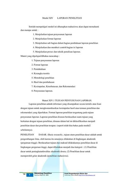 Penyusunan Laporan Penelitian Ppt Download