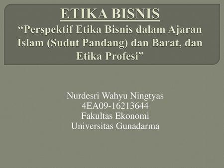 Perkenalan Dosen Etika Profesi Ppt Download