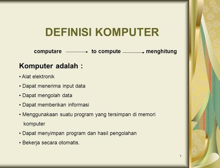 computare to compute menghitung