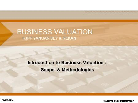 Introduction to Business Valuation :