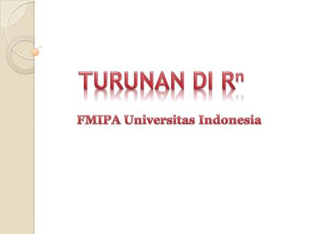 FMIPA Universitas Indonesia