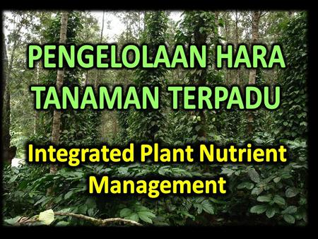 Integrated Plant Nutrient Management