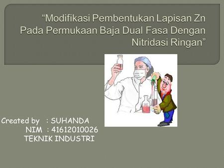 Created by : SUHANDA NIM : 41612010026 TEKNIK INDUSTRI.