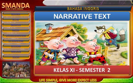 NARRATIVE TEXT KELAS XI - SEMESTER 2.