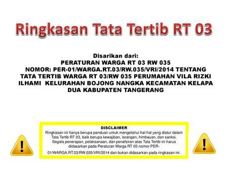 Panduan Pemilihan Rt Dan Rw Ppt Download
