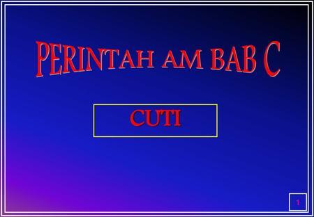 Perintah Am Bab A B C D E F Dan G Ppt Download
