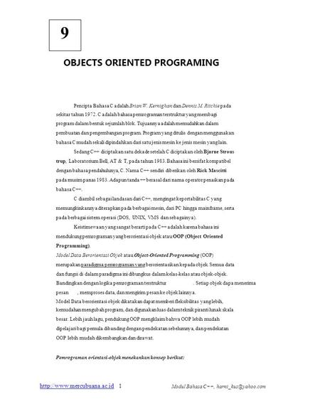 OBJECTS ORIENTED PROGRAMING