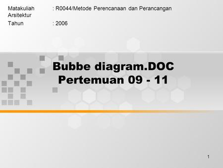 Bubbe diagram.DOC Pertemuan
