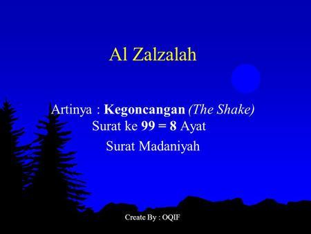 Peresentasi Qsal Zalzalah Goncangan Ppt Download