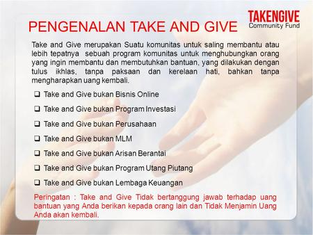 PENGENALAN TAKE AND GIVE