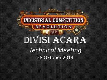 DIVISI ACARA Technical Meeting