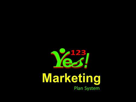123 Y e s ! Marketing Plan System.
