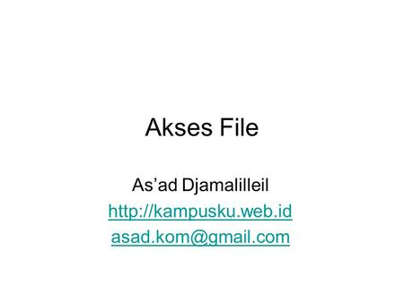 Akses File As'ad Djamalilleil