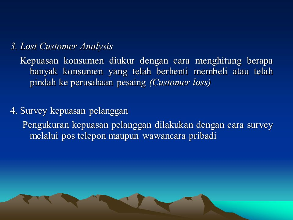 3. Lost Customer Analysis