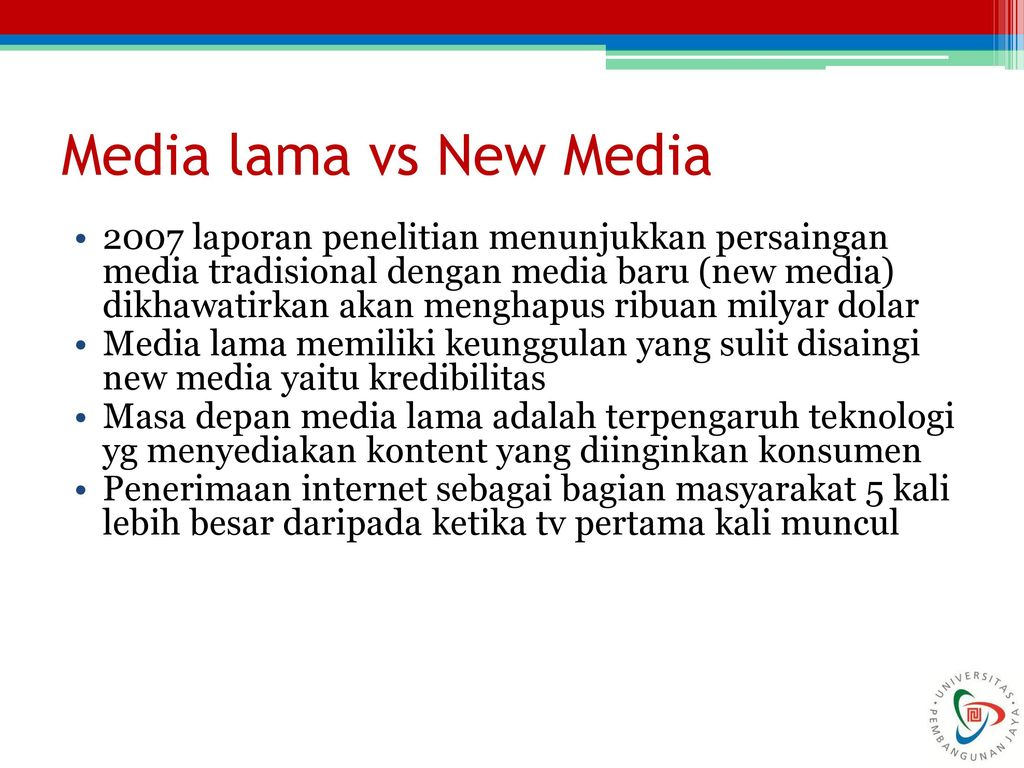 New Media: New technology, New Ideas or New Headaches - ppt download