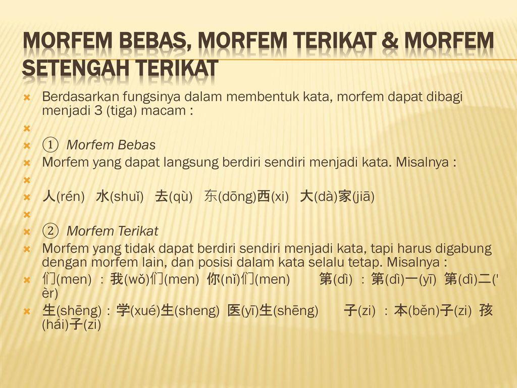 Bab 2 Satuan Gramatikal I 第二讲 语法单位 Ppt Download