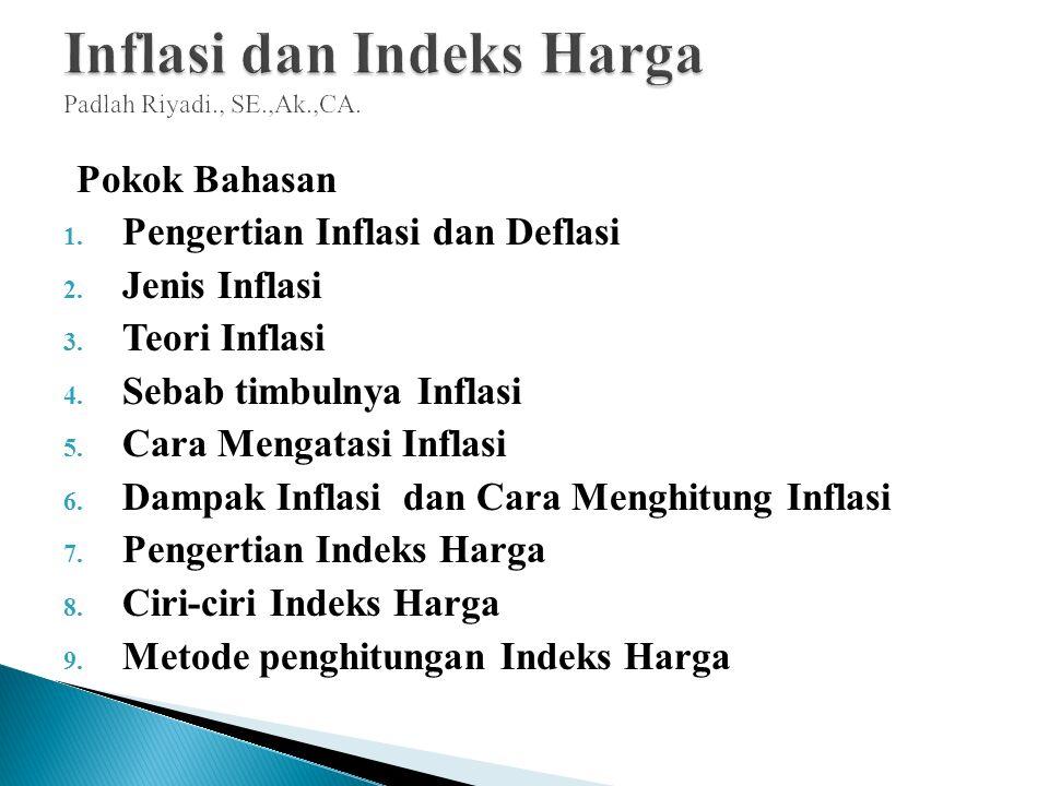 Inflasi Dan Indeks Harga Padlah Riyadi Se Ak Ca Ppt Download