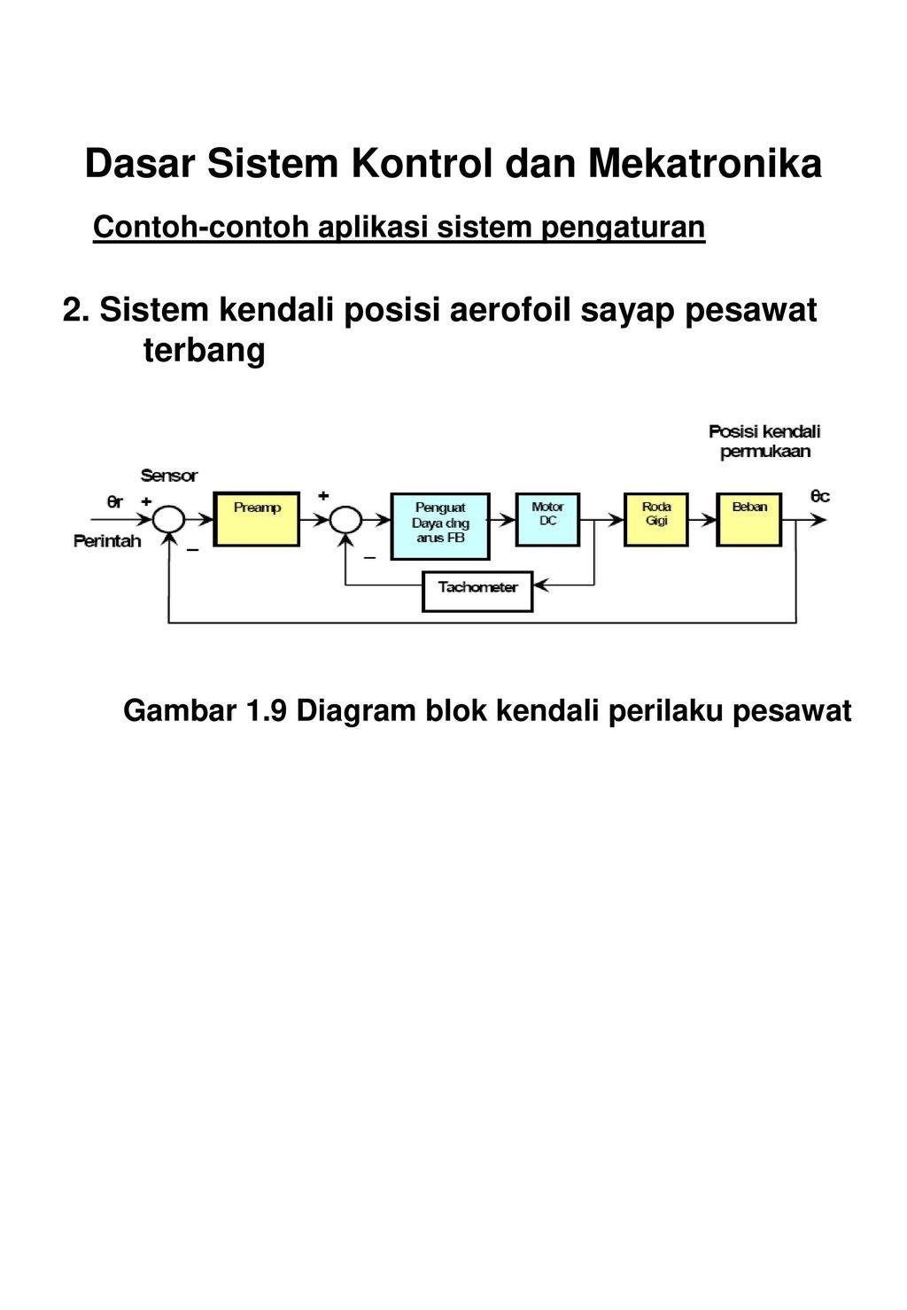 Diktat instrumentasi sistem kendali ppt download dasar sistem kontrol dan mekatronika ccuart Choice Image