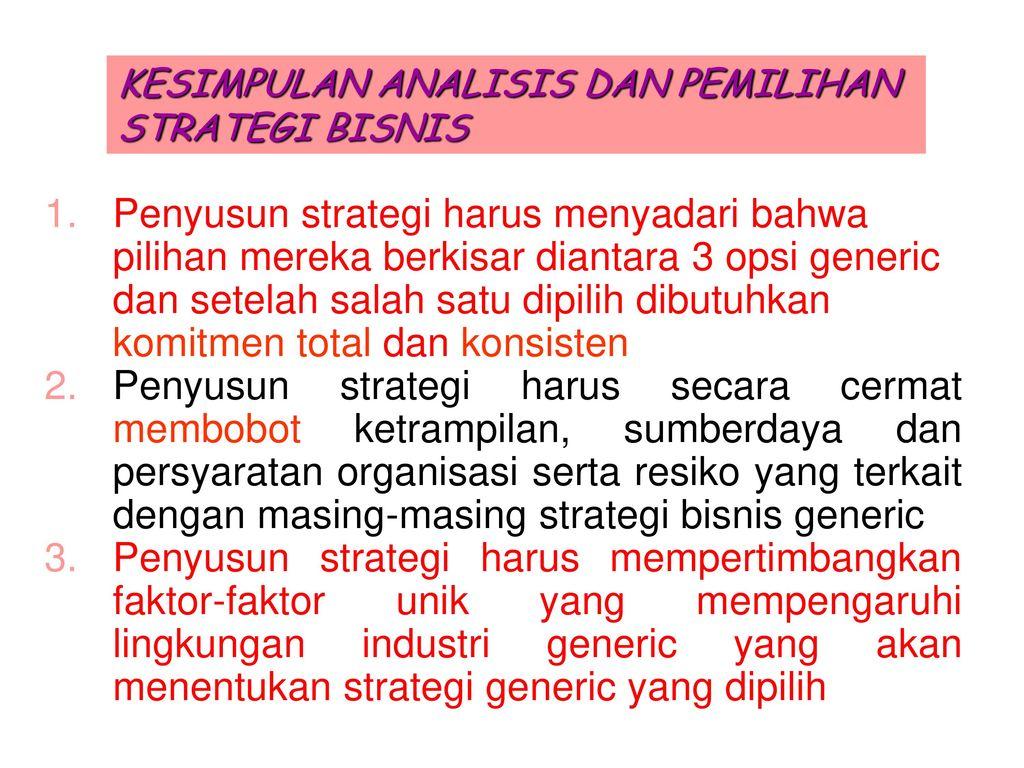 dua opsi strategi berbasis luas