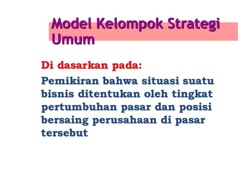kelompok strategi perdagangan