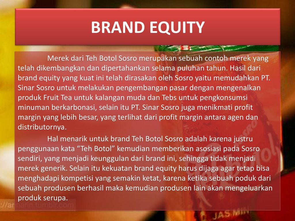 Marketing Management Pt Sinar Sosro Teh Botol Sosro Ppt Download