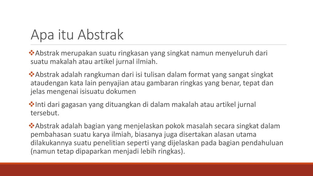 Menulis Karya Ilmiah Judul Abstrak Kata Kunci Ppt Download