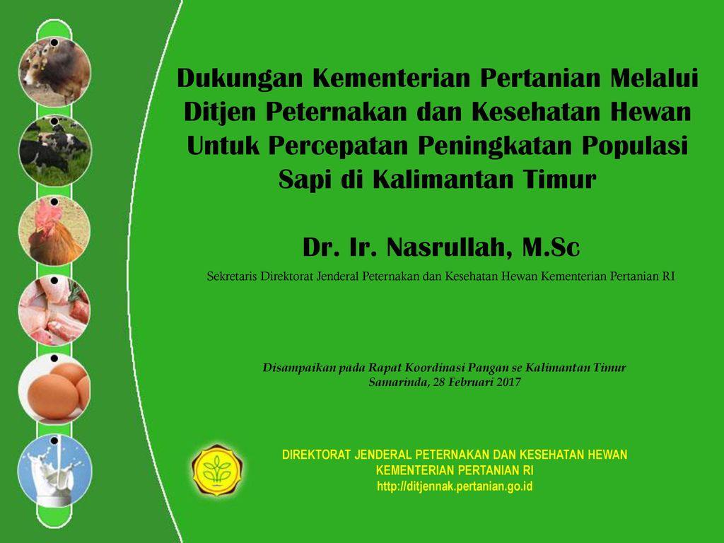 Dukungan Kementerian Pertanian Melalui Ditjen Peternakan Dan