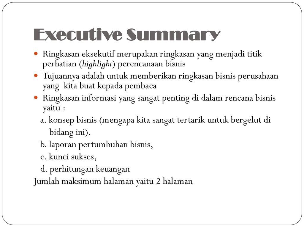 Manajemen Wirausaha Business Plan Ppt Download