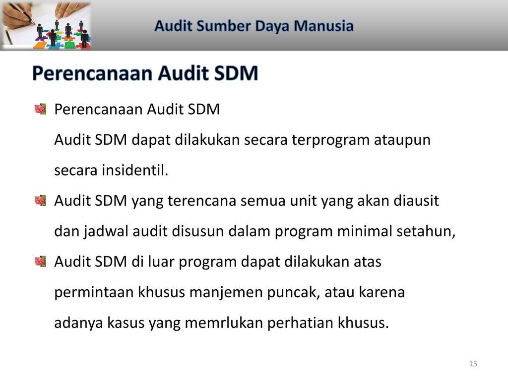 Audit Sumber Daya Manusia 4 Februari Ppt Download