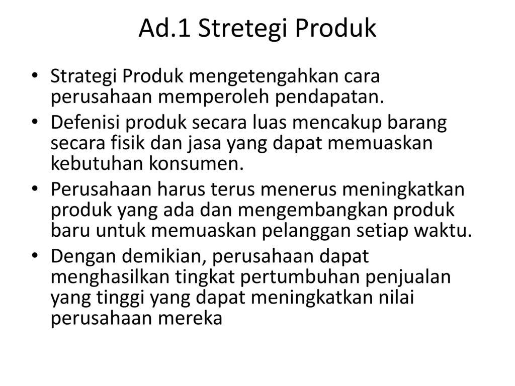 Pemasaran: Marketing Mix