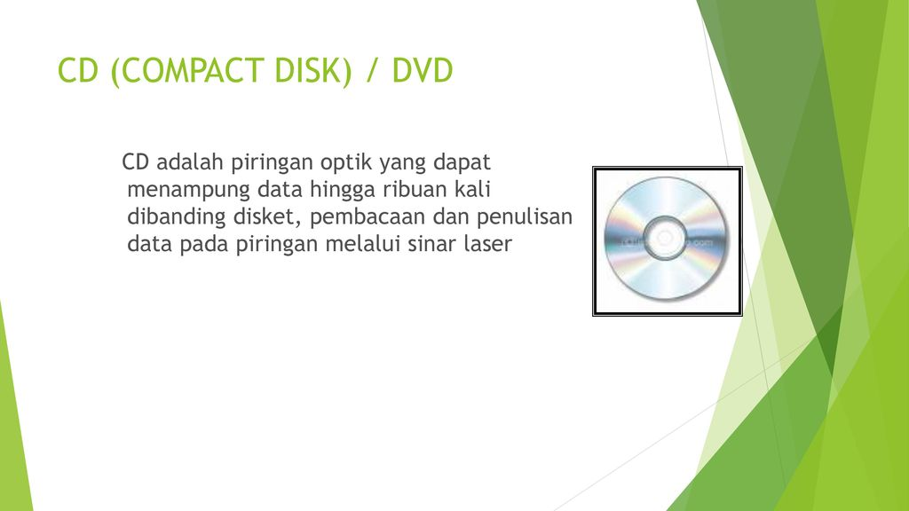 CD (COMPACT DISK) / DVD