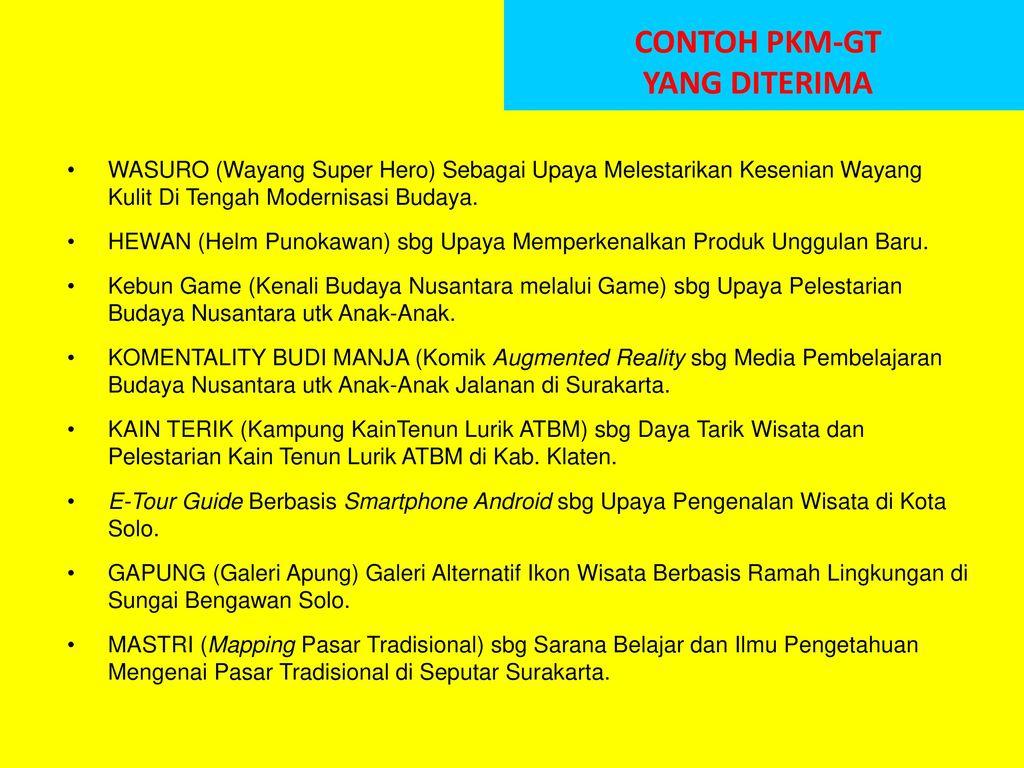 Kiat Menyusun Proposal Pkm Gt Ppt Download